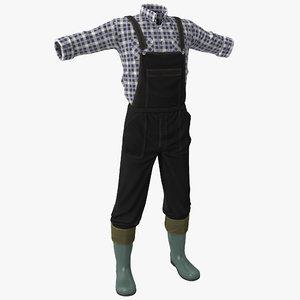 farmer clothes 3d model