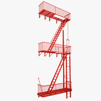 Fire Escape Stairs 01