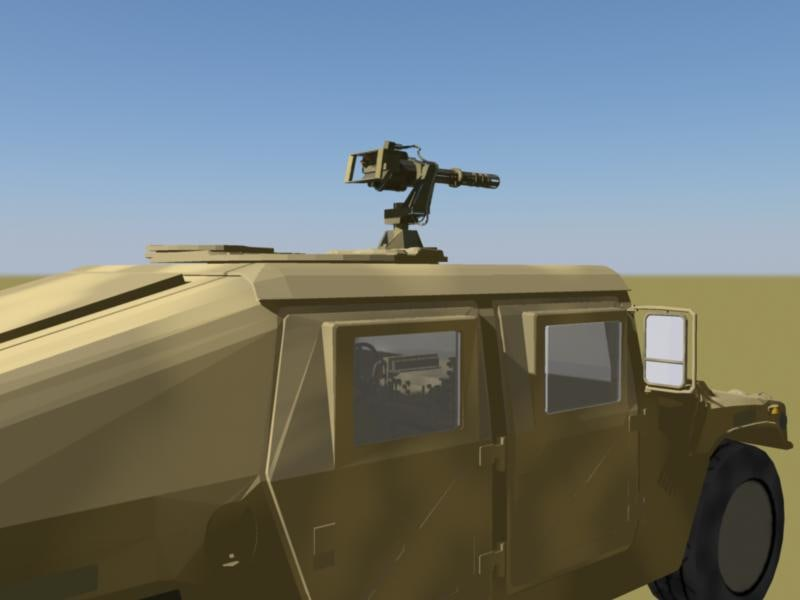 military humvee camo version 3d ma