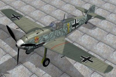 3d 3ds german fighter messerschmitt 109e