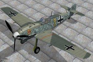 3d 3ds german fighter messerschmitt 109e