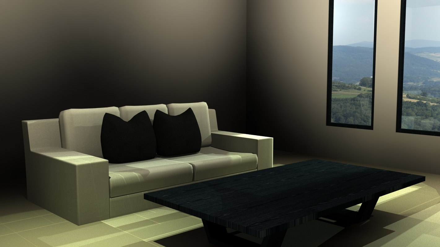 table rooms living 3d 3ds