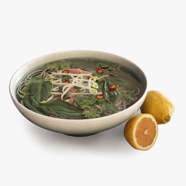 3d model vietnamese soup