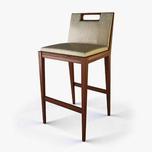 3d designer bar stool model