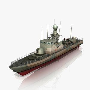 3d lurssen tnc 45 camouflage model