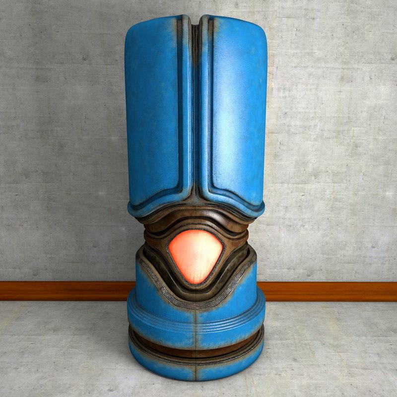metal artifact urn c4d