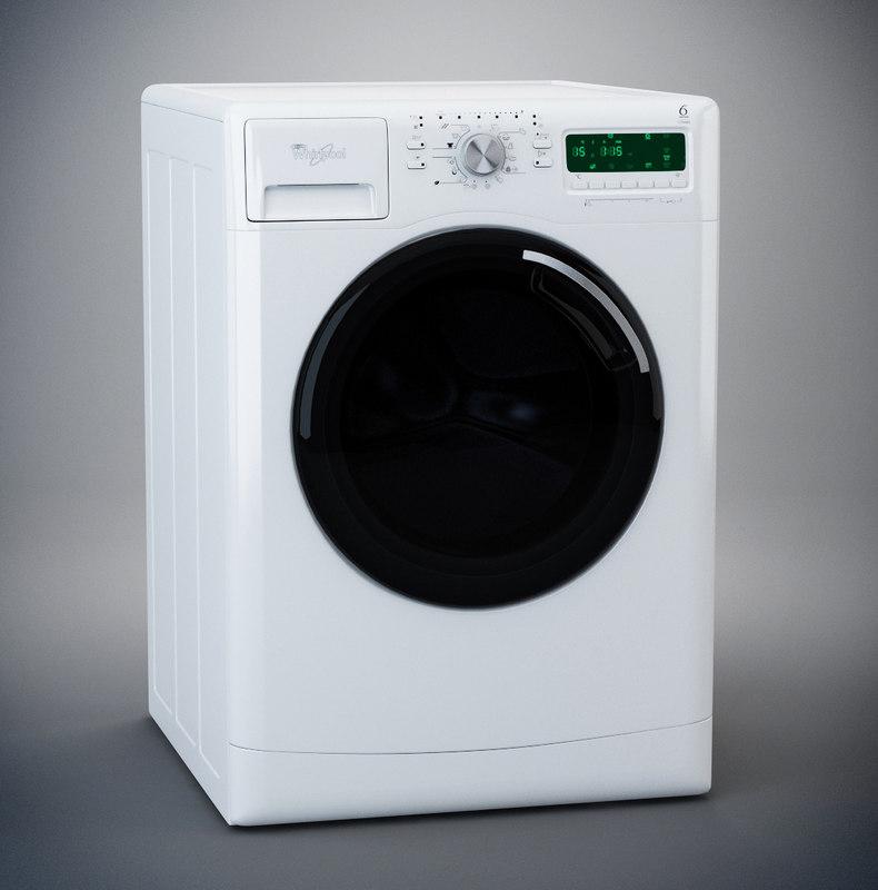 washing machine 3d model