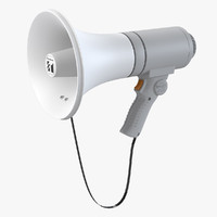 electric megaphone speaker 3ds