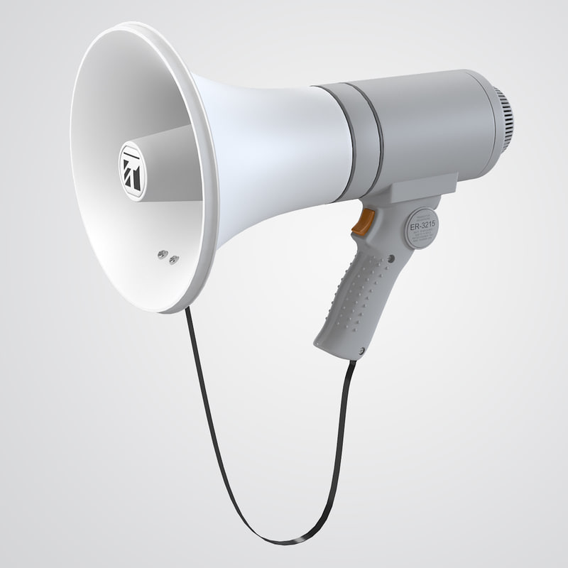 electric megaphone speaker 3ds