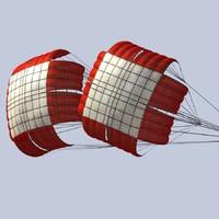 braking parachute 3d max