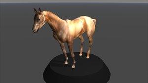 3d model horse ged