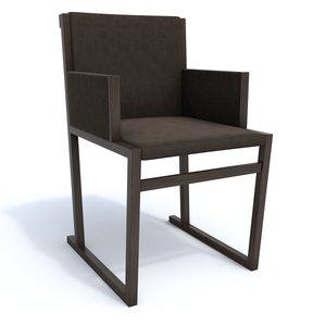3d maxalto armchair model