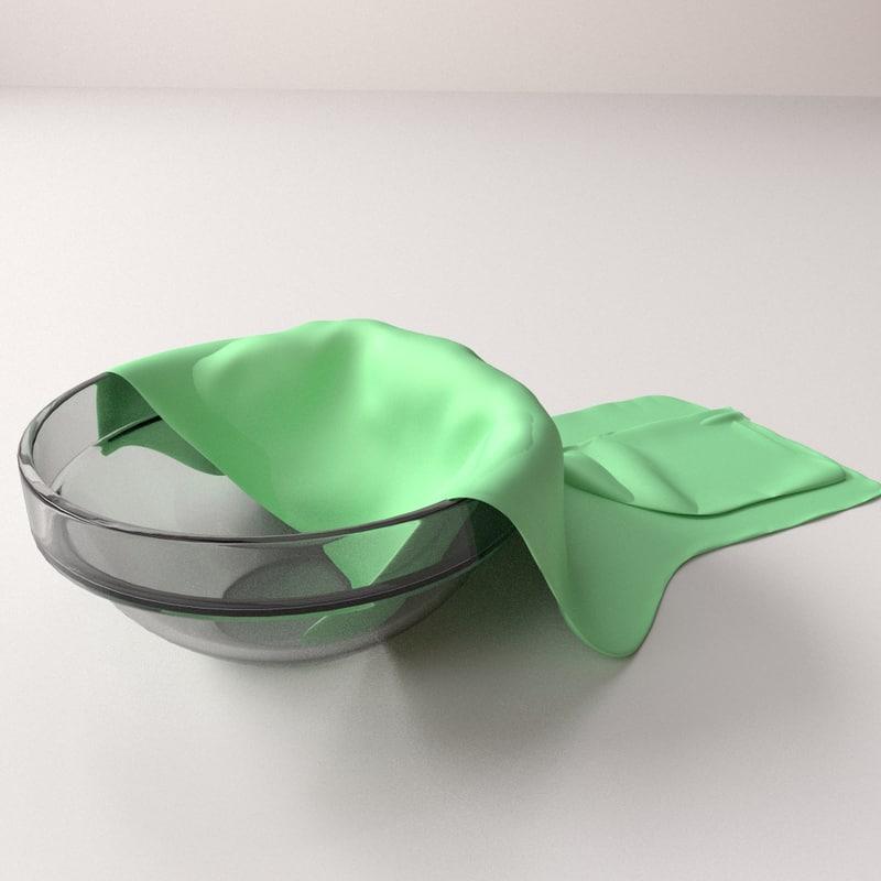 3d model of cloth bowl