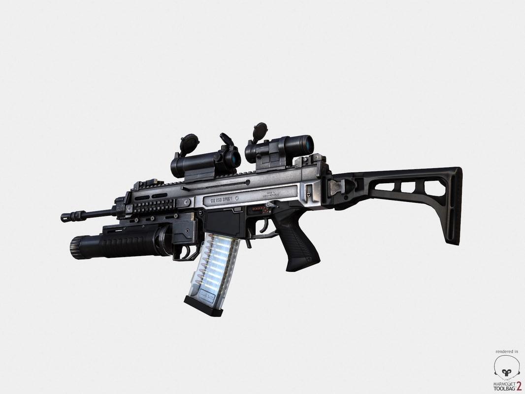 3d model assault rifle cz 805