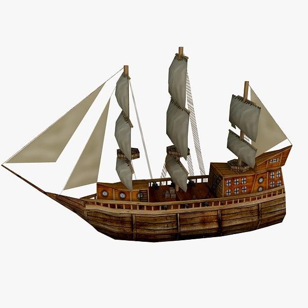 3d model of ship games