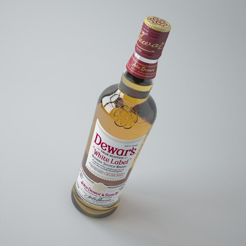 dewars whiskey 3d max