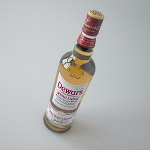 dewars whiskey 3d max