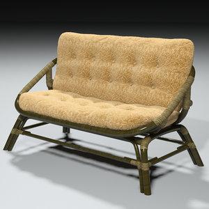 sofa rotanza 3d model