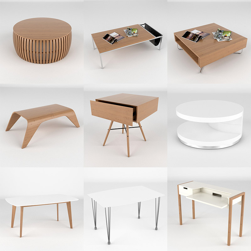 tables realistic 3d ma