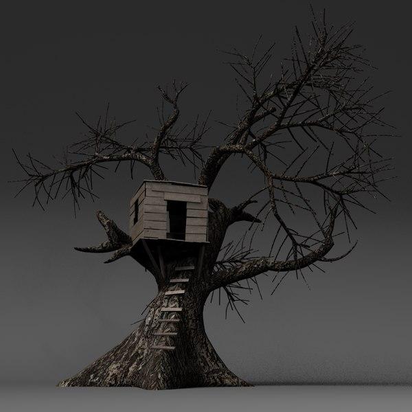 tree treehouse obj