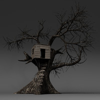 tree treehouse obj