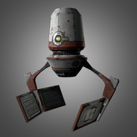 3d red zed droid