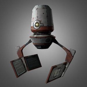 3d red zed droid