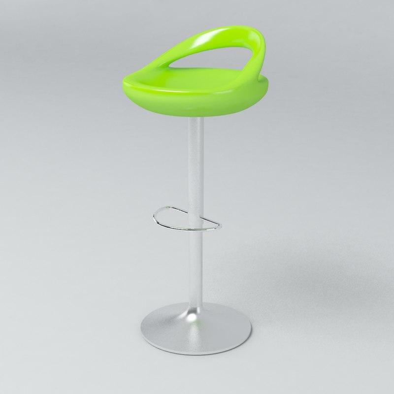 modern stool 3d max