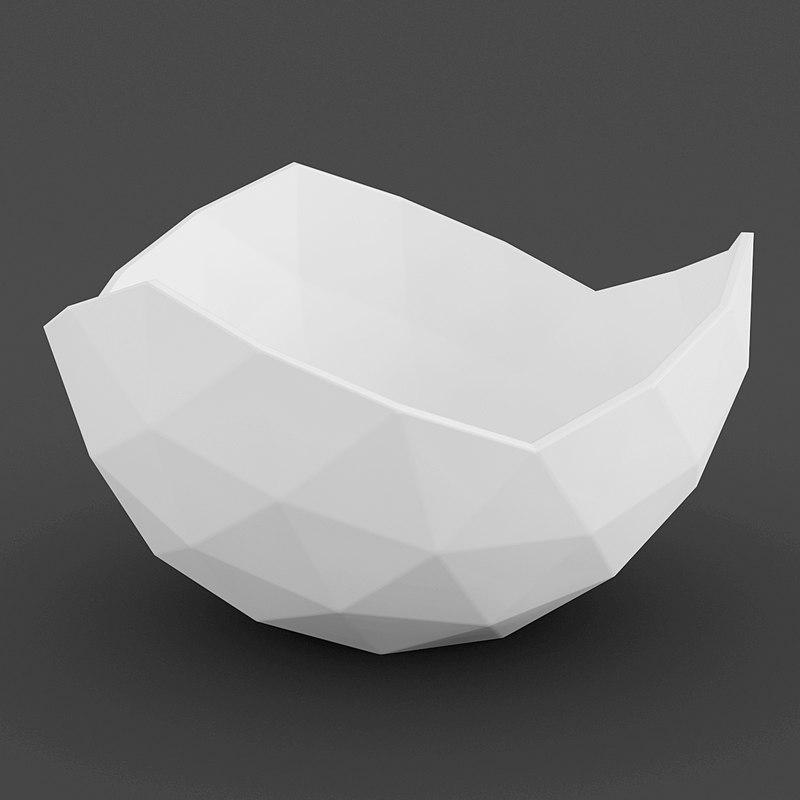 3dsmax geometric bowl