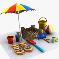 Cartoon Beach Items 1