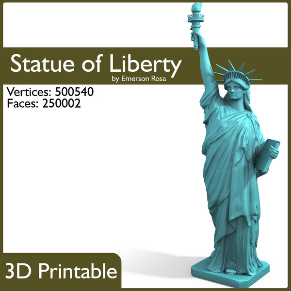 3D Printable - Statue of Liberty