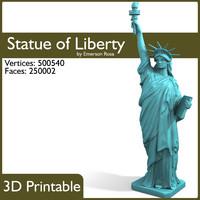3d statue liberty printable