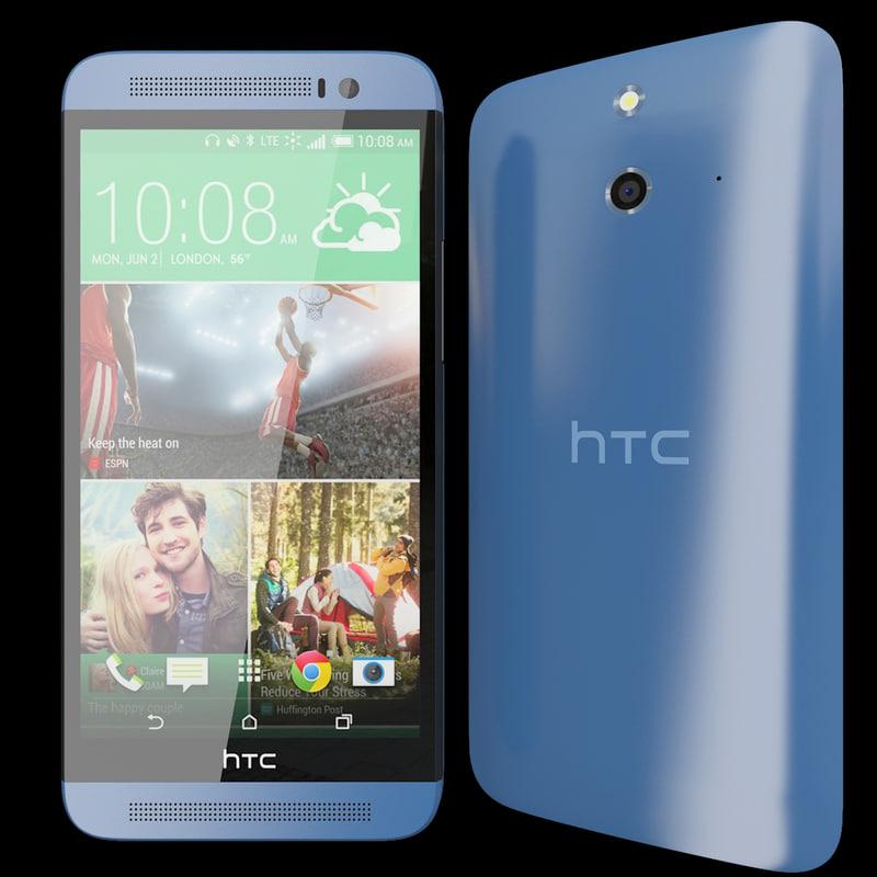 3d realistic htc e8 blue