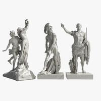 3d model statue augustus prima