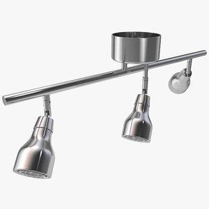 ceiling 3 bar spotlight 3d model