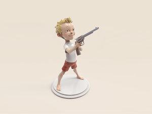 gun boy 3d model