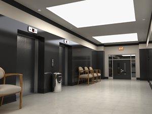 modern hallway 3d ma