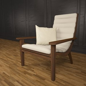 3d model veranda armchair