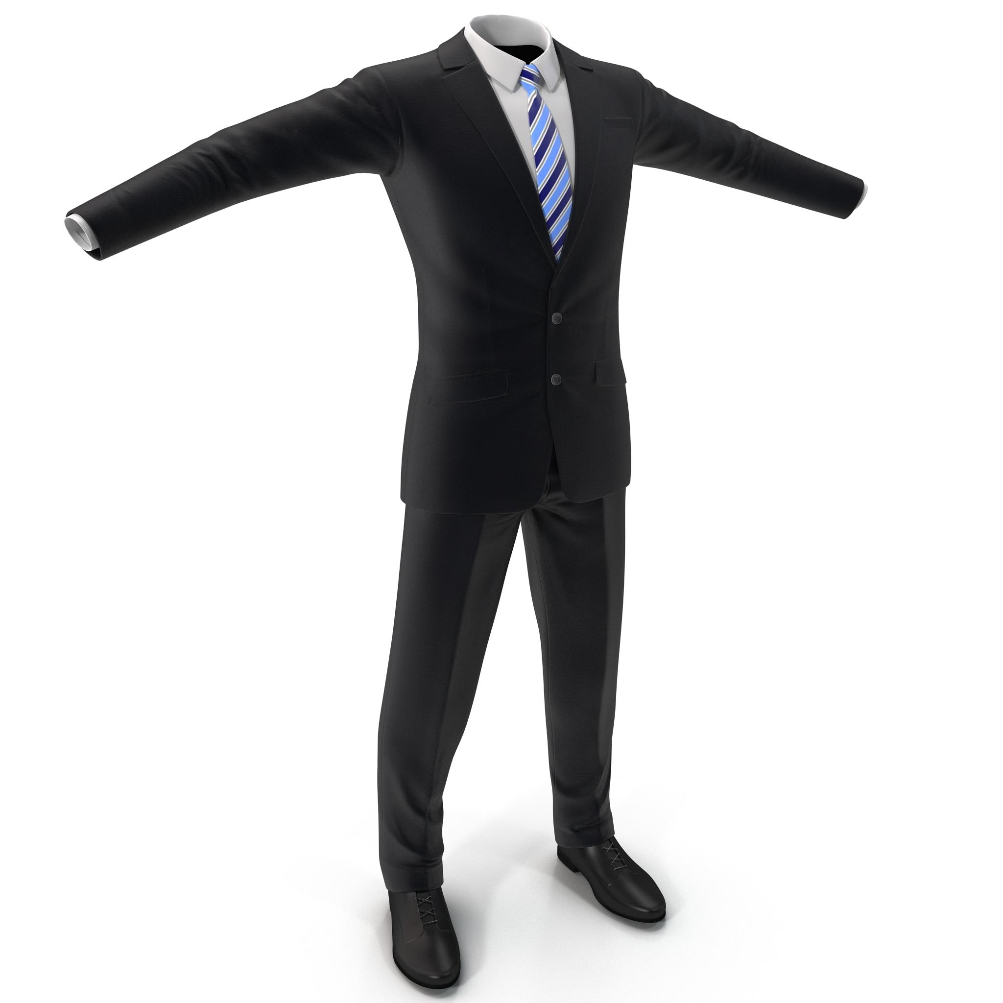 men suit 6 3d model