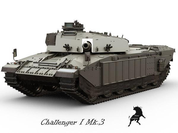 armoured challenger 3d model