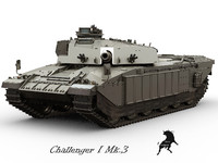 armoured challenger 3d model
