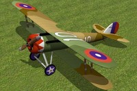3d nieuport 28 fighter model