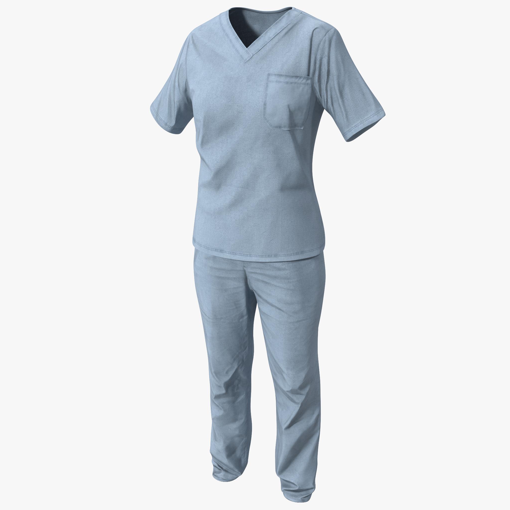 3d nurse uniform 2 model