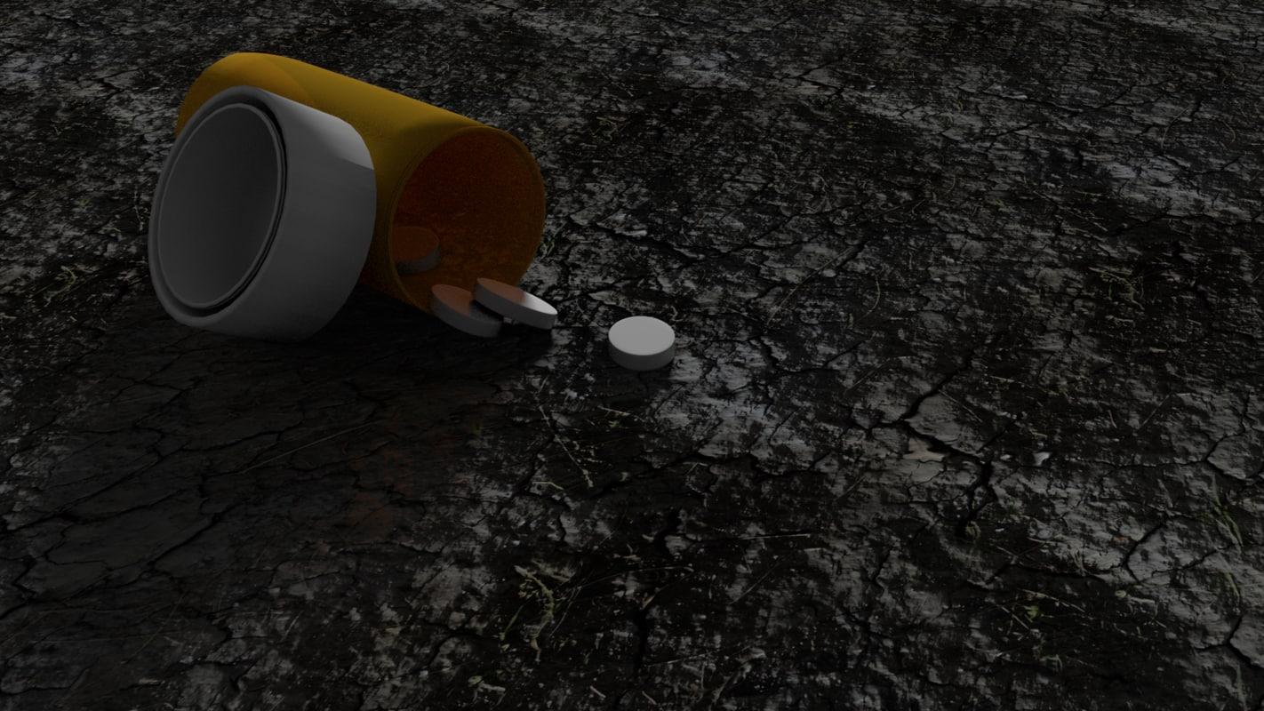 blender pills 3d model