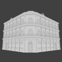 european building exterior 3d obj