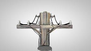 3d 3ds telephone pole