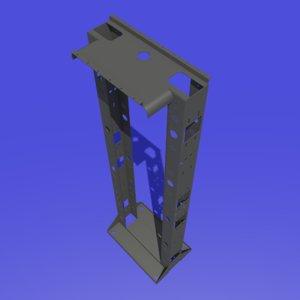 3d seismic 2-post open frame model