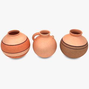 3ds water pot set