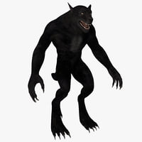 3d werewolf rigged model