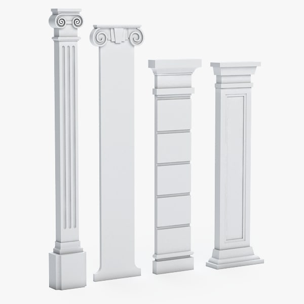 3d columns model